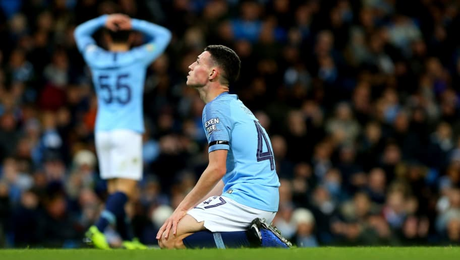 MANCHESTER, ENGLAND - NOVEMBER 01:  Phil Foden of Manchester City in action during the Carabao Cup Fourth Round match between Manchester City and Fulham at Etihad Stadium on November 1, 2018 in Manchester, England. (Photo by Chloe Knott - Danehouse/Getty Images)