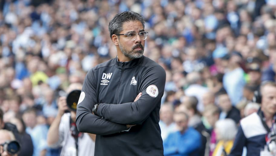 MANCHESTER, ENGLAND - AUGUST 19: David Wagner the manager of Huddersfield Town during the Premier League match between Manchester City and Huddersfield Town at Etihad Stadium on August 19, 2018 in Manchester, United Kingdom. (Photo by William Early/Getty Images)