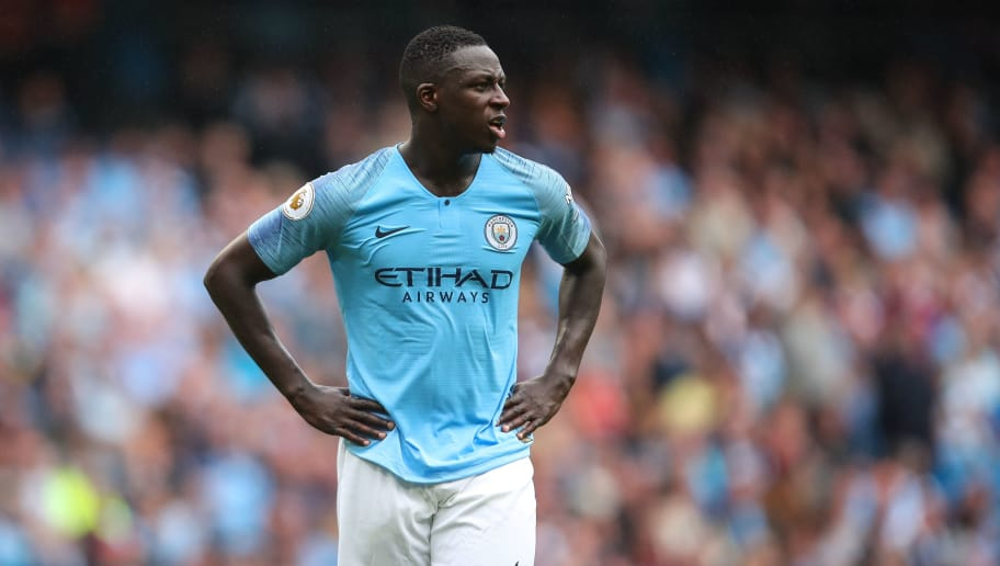 MANCHESTER, ENGLAND - AUGUST 19: Benjamin Mendy of Manchester City during the Premier League match between Manchester City and Huddersfield Town at Etihad Stadium on August 19, 2018 in Manchester, United Kingdom. (Photo by Robbie Jay Barratt - AMA/Getty Images)