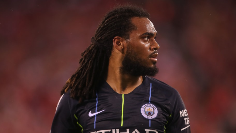 EAST RUTHERFORD, NJ - JULY 25: Jason Denayer of Manchester City during the International Champions Cup 2018 match between Manchester City and Liverpool at MetLife Stadium on July 25, 2018 in East Rutherford, New Jersey. (Photo by Robbie Jay Barratt - AMA/Getty Images)