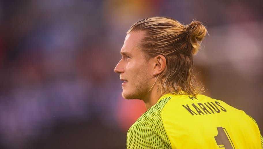 EAST RUTHERFORD, NJ - JULY 25: Loris Karius of Liverpool during the International Champions Cup 2018 match between Manchester City and Liverpool at MetLife Stadium on July 25, 2018 in East Rutherford, New Jersey. (Photo by Robbie Jay Barratt - AMA/Getty Images)