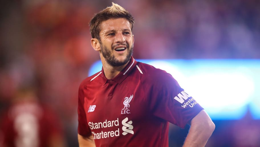 EAST RUTHERFORD, NJ - JULY 25: Adam Lallana of Liverpool during the International Champions Cup 2018 match between Manchester City and Liverpool at MetLife Stadium on July 25, 2018 in East Rutherford, New Jersey. (Photo by Robbie Jay Barratt - AMA/Getty Images)