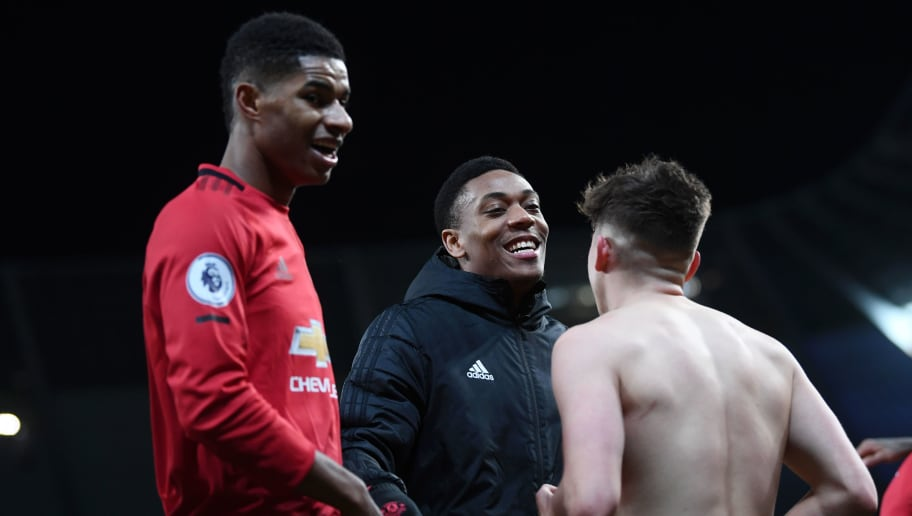 Marcus Rashford,Anthony Martial,Daniel James