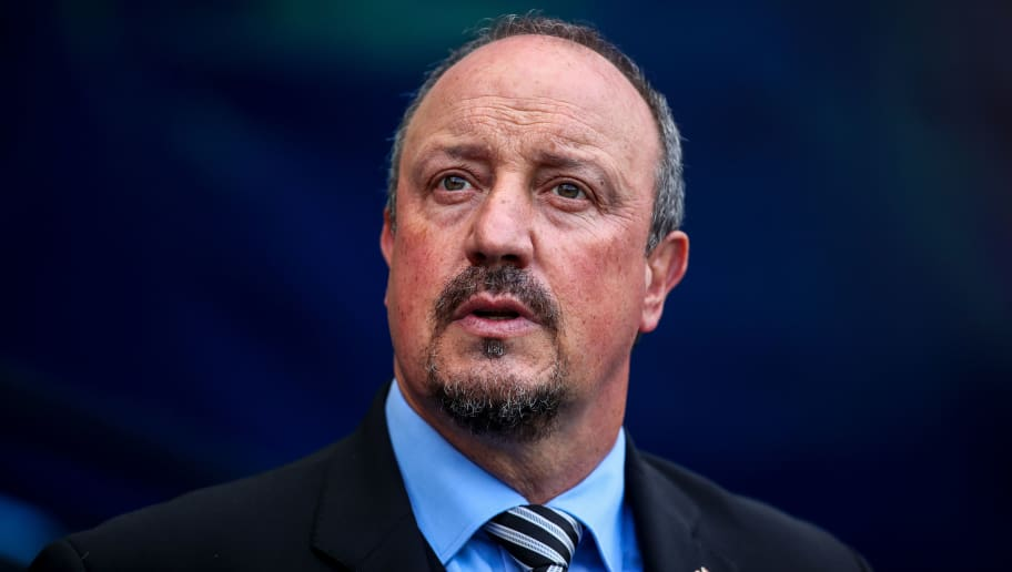 MANCHESTER, ENGLAND - SEPTEMBER 01: Rafael Benitez the head coach / manager of Newcastle United during the Premier League match between Manchester City and Newcastle United at Etihad Stadium on September 1, 2018 in Manchester, United Kingdom. (Photo by Robbie Jay Barratt - AMA/Getty Images)