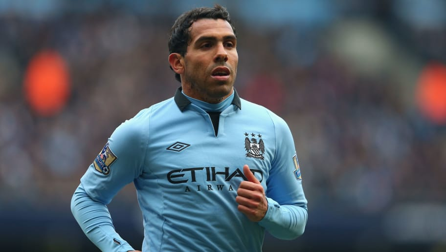 MANCHESTER, ENGLAND - MARCH 30:  Carlos Tevez of Manchester City looks on during the Barclays Premier League match between Manchester City and Newcastle United at the Etihad Stadium on March 30, 2013 in Manchester, England.  (Photo by Alex Livesey/Getty Images)