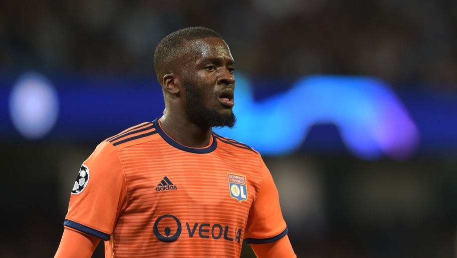 MANCHESTER, ENGLAND - SEPTEMBER 19: Tanguy NDombele of Lyon looks on during the UEFA Champions League Group F match between Manchester City and Olympique Lyonnais at Etihad Stadium on September 19, 2018 in Manchester, United Kingdom. (Photo by TF-Images/Getty Images)
