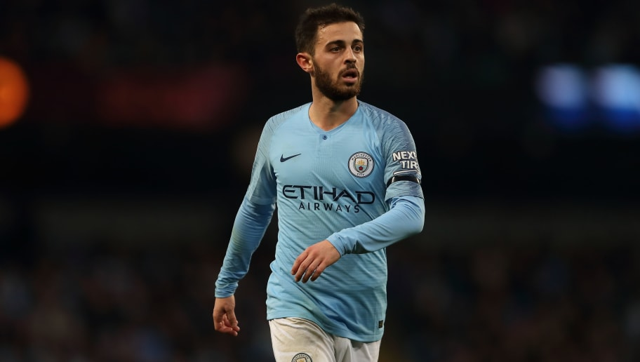 MANCHESTER, ENGLAND - NOVEMBER 04: Bernardo Silva of Manchester City during the Premier League match between Manchester City and Southampton FC at Etihad Stadium on November 4, 2018 in Manchester, United Kingdom. (Photo by James Williamson - AMA/Getty Images)