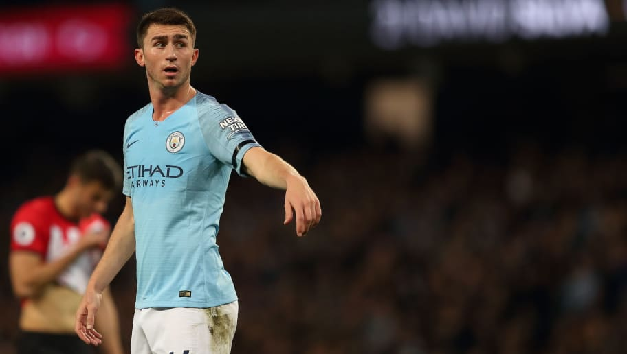 MANCHESTER, ENGLAND - NOVEMBER 04: Aymeric Laporte of Manchester City during the Premier League match between Manchester City and Southampton FC at Etihad Stadium on November 4, 2018 in Manchester, United Kingdom. (Photo by James Williamson - AMA/Getty Images)