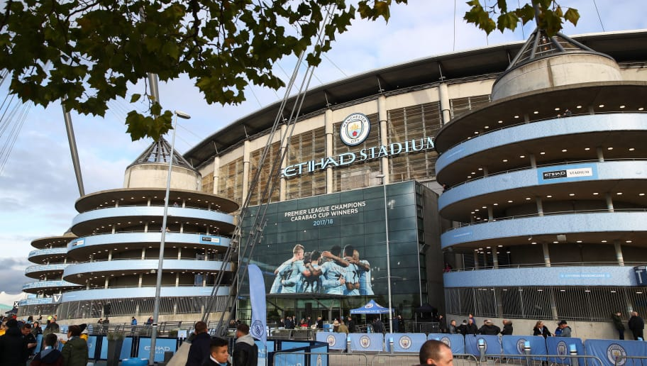 MANCHESTER, ENGLAND - NOVEMBER 04:  A view outside the stadium during the Premier League match between Manchester City and Southampton FC at Etihad Stadium on November 4, 2018 in Manchester, United Kingdom.  (Photo by Clive Brunskill/Getty Images)