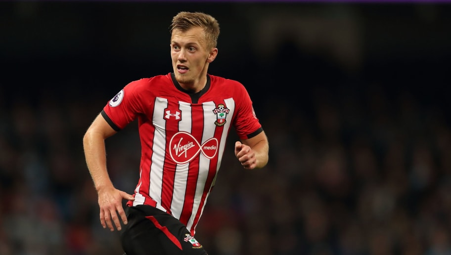 MANCHESTER, ENGLAND - NOVEMBER 04: James Ward-Prowse of Southampton during the Premier League match between Manchester City and Southampton FC at Etihad Stadium on November 4, 2018 in Manchester, United Kingdom. (Photo by James Williamson - AMA/Getty Images)