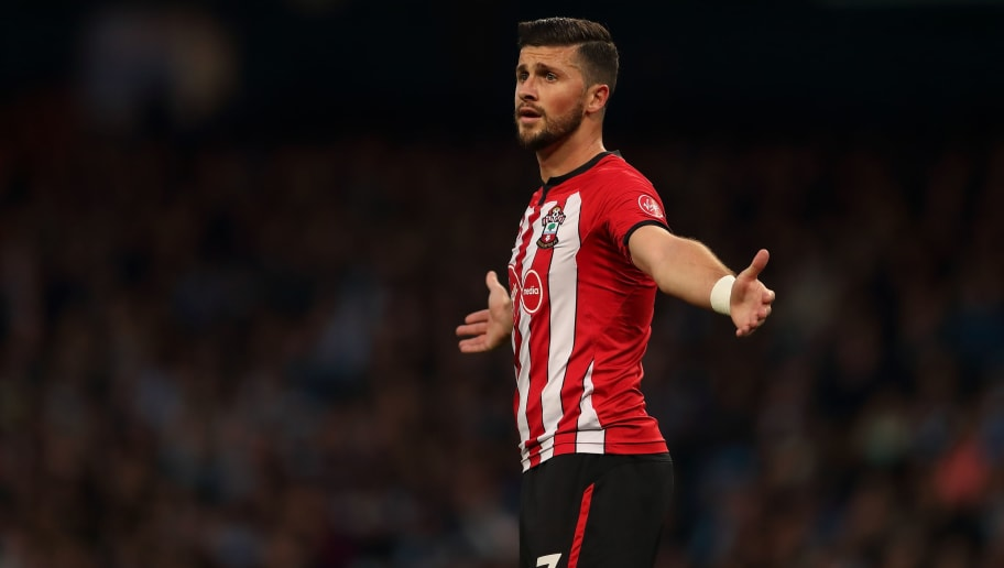 MANCHESTER, ENGLAND - NOVEMBER 04: Shane Long of Southampton reacts during the Premier League match between Manchester City and Southampton FC at Etihad Stadium on November 4, 2018 in Manchester, United Kingdom. (Photo by James Williamson - AMA/Getty Images)