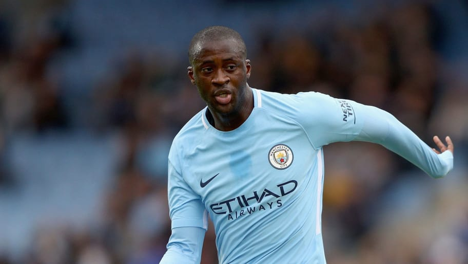 REYKJAVIK, ICELAND - AUGUST 04: Yaya Toure of Manchester City in action during a Pre Season Friendly between Manchester City and West Ham United at the Laugardalsvollur stadium on August 4, 2017 in Reykjavik, Iceland.  (Photo by Ian Walton/Getty Images)