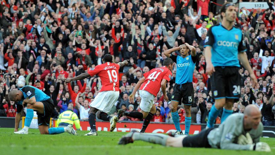 Manchester United's Federico Macheda (3L