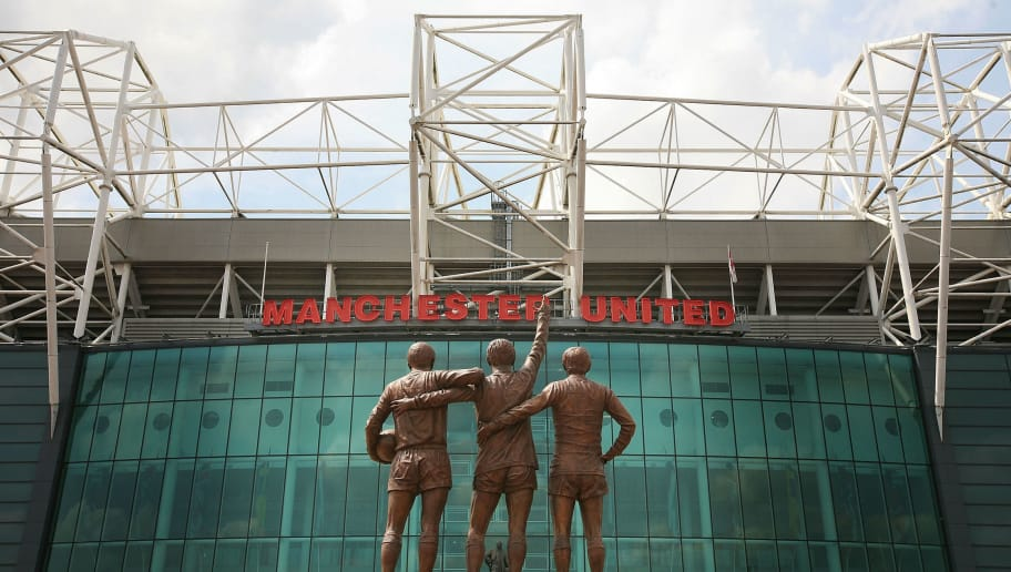 MANCHESTER, UNITED KINGDOM - MAY 29:  The statue of Manchester United's 'Holy Trinity' of players stands in front of Old Trafford after being unveiled today on May 29, 2008, Manchester, England. The statue of United legends Bobby Charlton, Denis Law and the late George Best comes 40 years to the day since the club first lifted the European Cup. Charlton, Best and Law scored 665 goals between them for United and between 1964 and 1968, all won the coveted European Footballer of the Year award.  (Photo by Christopher Furlong/Getty Images)