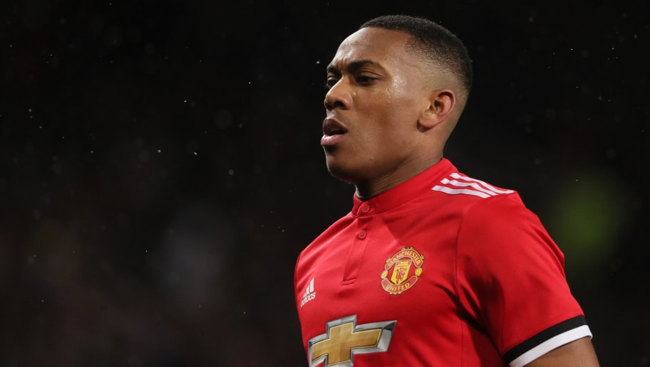 MANCHESTER, ENGLAND - MARCH 17: Anthony Martial of Manchester United during the FA Cup Quarter Final match between Manchester United and  Brighton & Hove Albion at Old Trafford on March 17, 2018 in Manchester, England. (Photo by Matthew Ashton - AMA/Getty Images)