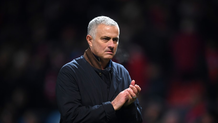 MANCHESTER, ENGLAND - NOVEMBER 27:  Jose Mourinho, Manager of Manchester United applauds the crowd after the UEFA Champions League Group H match between Manchester United and BSC Young Boys at Old Trafford on November 27, 2018 in Manchester, United Kingdom.  (Photo by Laurence Griffiths/Getty Images)