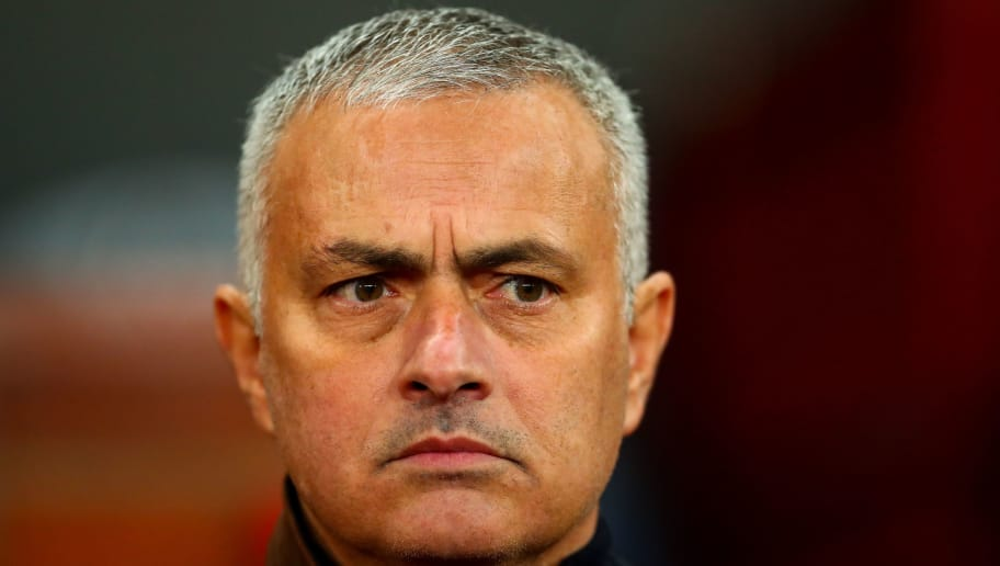 MANCHESTER, ENGLAND - NOVEMBER 27:  Jose Mourinho the head coach / manager of Manchester United  during the Group H match of the UEFA Champions League between Manchester United and BSC Young Boys at Old Trafford on November 27, 2018 in Manchester, United Kingdom. (Photo by Robbie Jay Barratt - AMA/Getty Images)