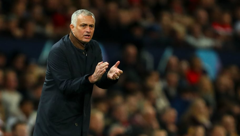 MANCHESTER, ENGLAND - NOVEMBER 27:  Jose Mourinho the head coach / manager of Manchester United encourages during the Group H match of the UEFA Champions League between Manchester United and BSC Young Boys at Old Trafford on November 27, 2018 in Manchester, United Kingdom. (Photo by Robbie Jay Barratt - AMA/Getty Images)