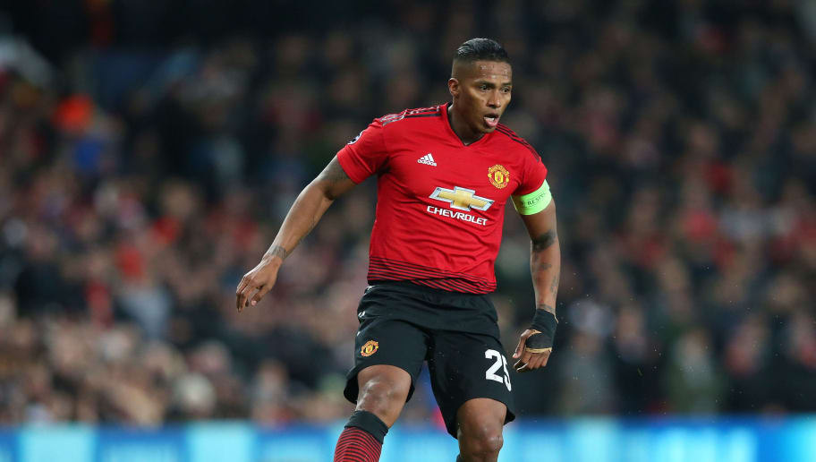 MANCHESTER, ENGLAND - NOVEMBER 27:  Antonio Valencia of Manchester United controls the ball during the Group H match of the UEFA Champions League between Manchester United and BSC Young Boys at Old Trafford on November 27, 2018 in Manchester, United Kingdom.  (Photo by Alex Livesey - Danehouse/Getty Images)