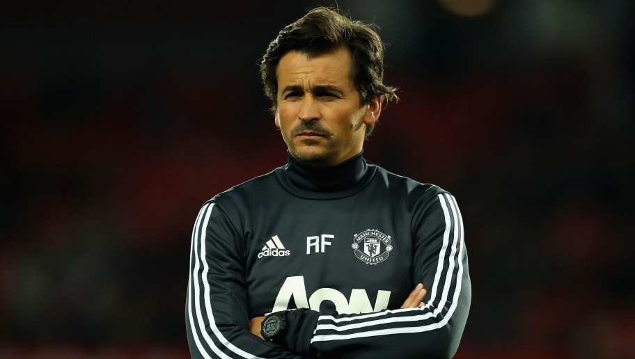 MANCHESTER, ENGLAND - SEPTEMBER 20:  Rui Faria, Manchester United assistant manager looks on prior to the Carabao Cup Third Round match between Manchester United and Burton Albion at Old Trafford on September 20, 2017 in Manchester, England.  (Photo by Richard Heathcote/Getty Images)