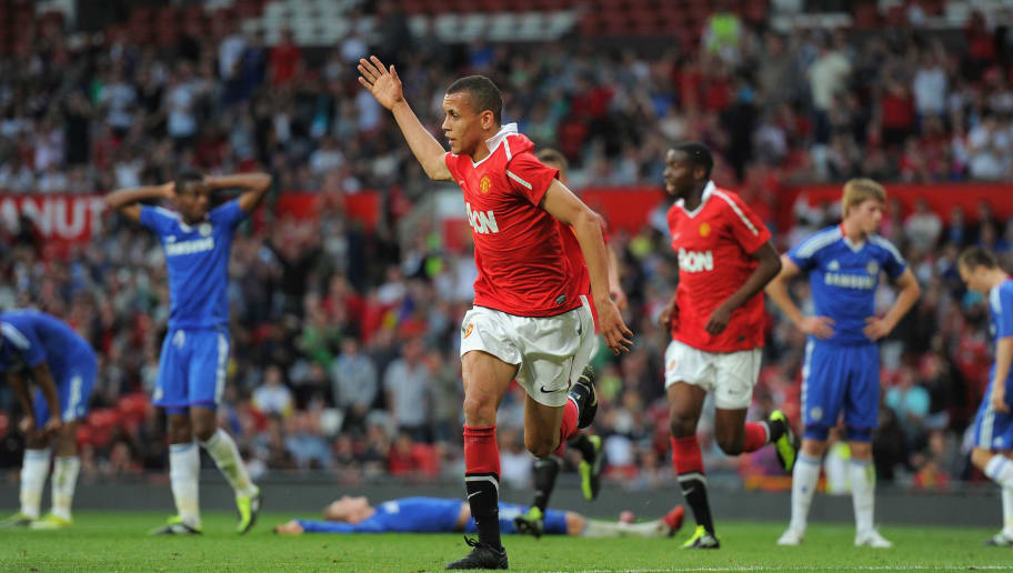 MANCHESTER, ENGLAND - APRIL 20:  Ravel Morrison of Manchester United celebrates scoring to make it 1-0 during the FA Youth Cup Semi Final 2nd Leg between Manchester United and Chelsea at Old Trafford on April 20, 2011 in Manchester, England.  (Photo by Michael Regan/Getty Images)