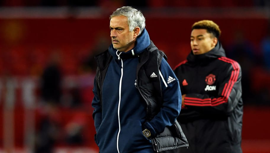 MANCHESTER, ENGLAND - SEPTEMBER 25:  Jose Mourinho, Manager of Manchester United walks off dejected after the Carabao Cup Third Round match between Manchester United and Derby County at Old Trafford on September 25, 2018 in Manchester, England.  (Photo by Gareth Copley/Getty Images)