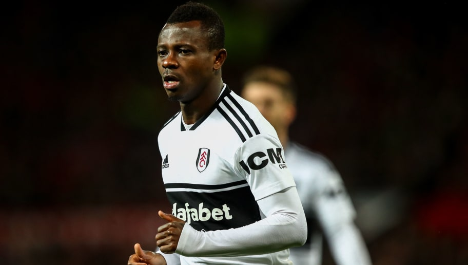 MANCHESTER, ENGLAND - DECEMBER 08:  Jean Michael Seri of Fulham during the Premier League match between Manchester United and Fulham FC at Old Trafford on December 8, 2018 in Manchester, United Kingdom. (Photo by Robbie Jay Barratt - AMA/Getty Images)