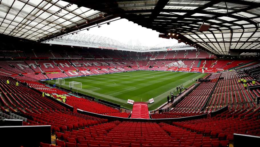 MANCHESTER, ENGLAND - FEBRUARY 03:  A general view of the stadium prior to the start of the Premier League match between Manchester United and Huddersfield Town at Old Trafford on February 3, 2018 in Manchester, England.  (Photo by Alex Morton/Getty Images)