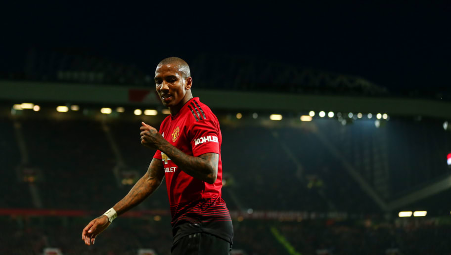 MANCHESTER, ENGLAND - DECEMBER 26: Ashley Young of Manchester United during the Premier League match between Manchester United and Huddersfield Town at Old Trafford on December 26, 2018 in Manchester, United Kingdom. (Photo by Robbie Jay Barratt - AMA/Getty Images)