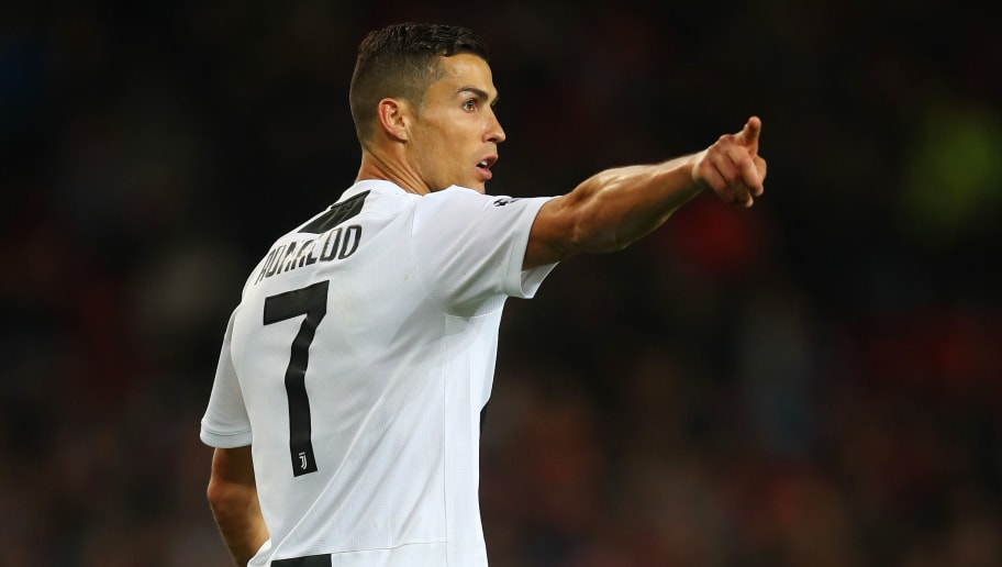 MANCHESTER, ENGLAND - OCTOBER 23:  Cristiano Ronaldo of Juventus in action during the Group H match of the UEFA Champions League between Manchester United and Juventus at Old Trafford on October 23, 2018 in Manchester, United Kingdom. (Photo by Robbie Jay Barratt - AMA/Getty Images)