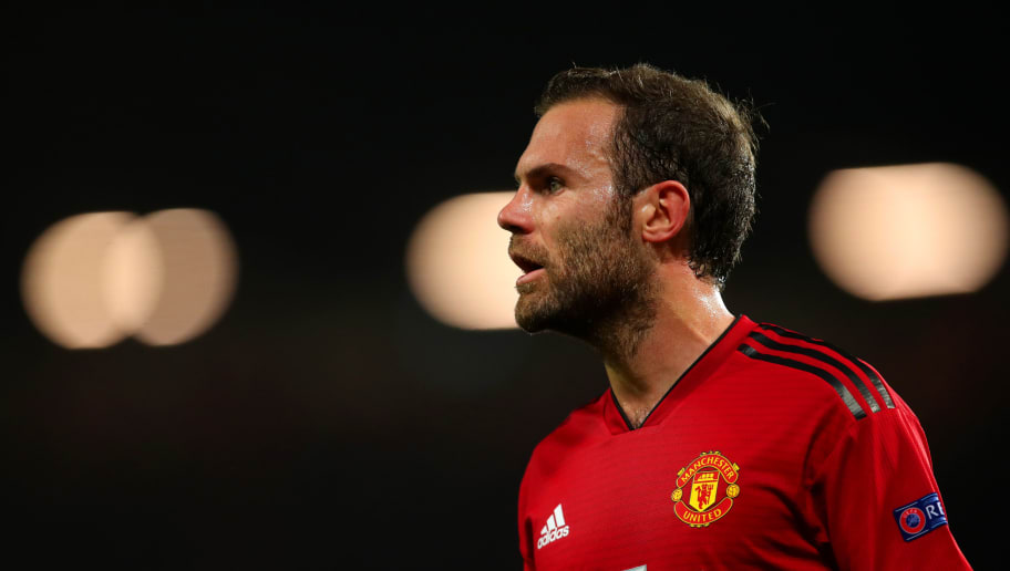 MANCHESTER, ENGLAND - OCTOBER 23:  Juan Mata of Manchester United looks on during the Group H match of the UEFA Champions League between Manchester United and Juventus at Old Trafford on October 23, 2018 in Manchester, United Kingdom. (Photo by Robbie Jay Barratt - AMA/Getty Images)