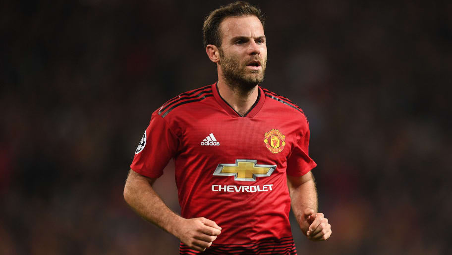 MANCHESTER, ENGLAND - OCTOBER 23:  Juan Mata of Manchester United looks on during the Group H match of the UEFA Champions League between Manchester United and Juventus at Old Trafford on October 23, 2018 in Manchester, United Kingdom.  (Photo by Michael Regan/Getty Images)