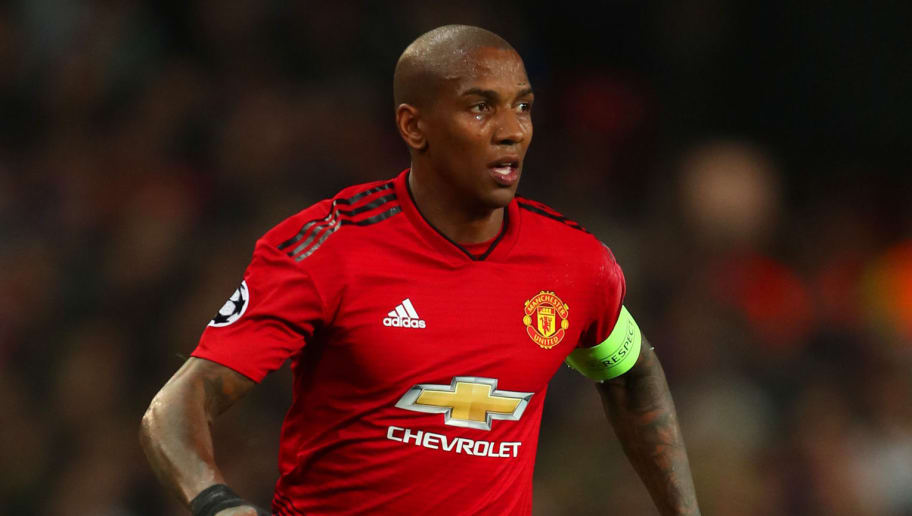 MANCHESTER, ENGLAND - OCTOBER 23:  Ashley Young of Manchester United in action during the Group H match of the UEFA Champions League between Manchester United and Juventus at Old Trafford on October 23, 2018 in Manchester, United Kingdom. (Photo by Robbie Jay Barratt - AMA/Getty Images)