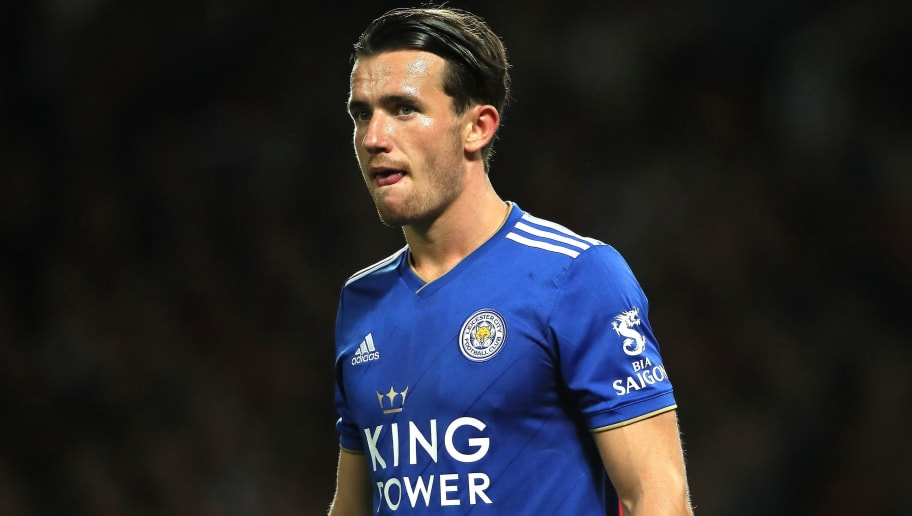 MANCHESTER, ENGLAND - AUGUST 10: Ben Chilwell of Leicester City during the Premier League match between Manchester United and Leicester City at Old Trafford on August 10, 2018 in Manchester, United Kingdom. (Photo by Matthew Ashton - AMA/Getty Images)