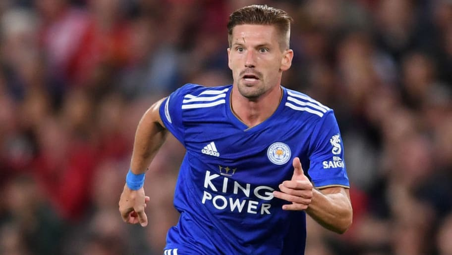 MANCHESTER, ENGLAND - AUGUST 10:  Adrien Silva of Leicester City runs with the ball during the Premier League match between Manchester United and Leicester City at Old Trafford on August 10, 2018 in Manchester, United Kingdom.  (Photo by Laurence Griffiths/Getty Images)