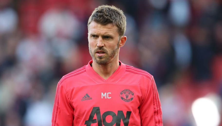 MANCHESTER, ENGLAND - AUGUST 10: Manchester United Assistant coach Michael Carrick during the Premier League match between Manchester United and Leicester City at Old Trafford on August 10, 2018 in Manchester, United Kingdom. (Photo by Matthew Ashton - AMA/Getty Images)