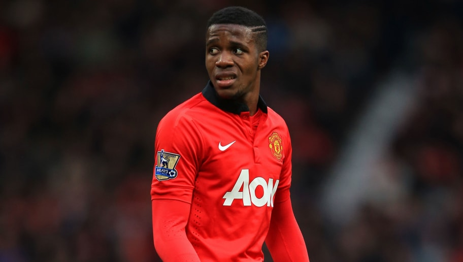 MANCHESTER, ENGLAND - DECEMBER 07:  Wilfried Zaha of Manchester United in action during the Barclays Premier League match between Manchester United and Newcastle United at Old Trafford on December 7, 2013 in Manchester, England.  (Photo by Richard Heathcote/Getty Images)