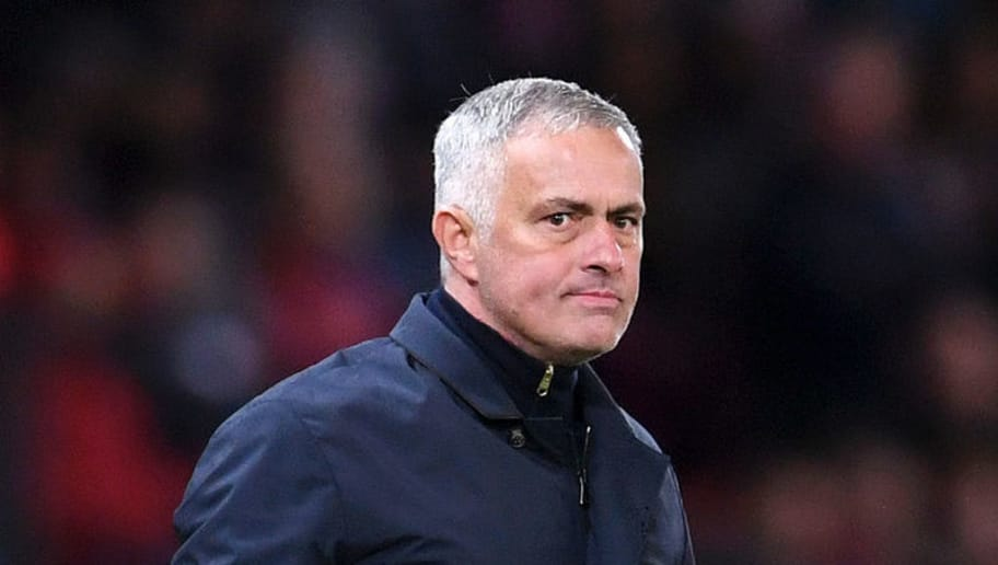 MANCHESTER, ENGLAND - OCTOBER 06:  Jose Mourinho, Manager of Manchester United celebrates during the Premier League match between Manchester United and Newcastle United at Old Trafford on October 6, 2018 in Manchester, United Kingdom.  (Photo by Laurence Griffiths/Getty Images)