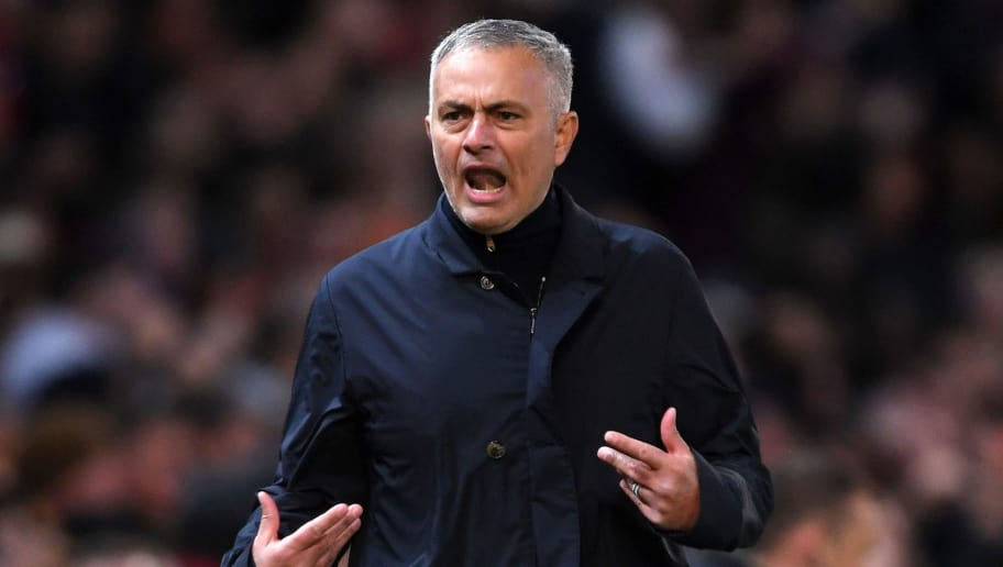 MANCHESTER, ENGLAND - OCTOBER 06:  Jose Mourinho, Manager of Manchester United celebrates after his team's second goal during the Premier League match between Manchester United and Newcastle United at Old Trafford on October 6, 2018 in Manchester, United Kingdom.  (Photo by Laurence Griffiths/Getty Images)