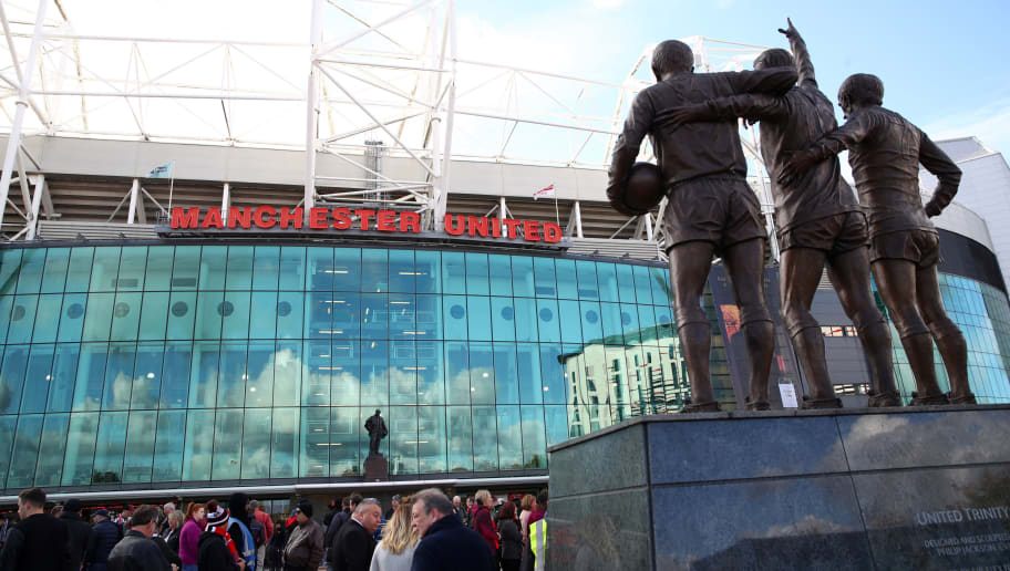 MANCHESTER, ENGLAND - OCTOBER 06:  General view outside the stadium where the Holy Trinity is seen prior to the Premier League match between Manchester United and Newcastle United at Old Trafford on October 6, 2018 in Manchester, United Kingdom.  (Photo by Clive Brunskill/Getty Images)