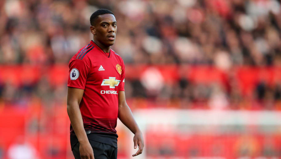 MANCHESTER, ENGLAND - OCTOBER 06: Anthony Martial of Manchester United during the Premier League match between Manchester United and Newcastle United at Old Trafford on October 6, 2018 in Manchester, United Kingdom. (Photo by Robbie Jay Barratt - AMA/Getty Images)
