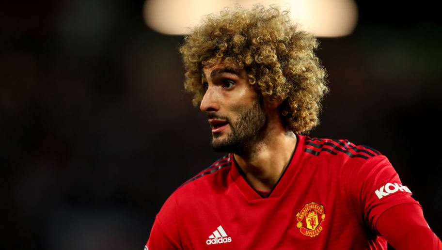 MANCHESTER, ENGLAND - OCTOBER 06: Marouane Fellaini of Manchester United during the Premier League match between Manchester United and Newcastle United at Old Trafford on October 6, 2018 in Manchester, United Kingdom. (Photo by Robbie Jay Barratt - AMA/Getty Images)