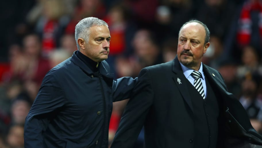 Image result for mourinho benitez newcastle 2019