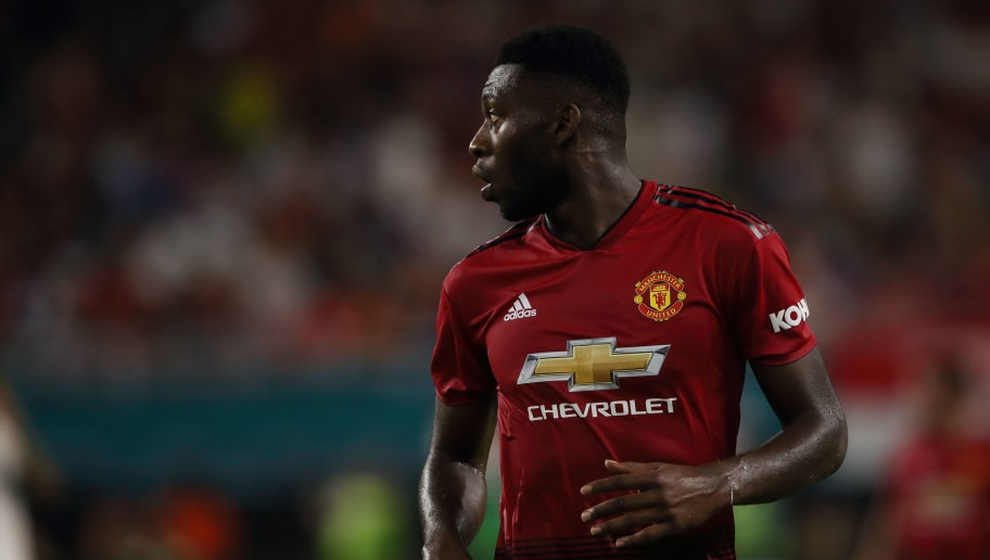 MIAMI, FL - JULY 31:  Timothy Fosu-Mensah of Manchester United during the International Champions Cup 2018 fixture between Manchester United v Real Madrid at Hard Rock Stadium on July 31, 2018 in Miami, Florida. (Photo by Matthew Ashton - AMA/Getty Images)