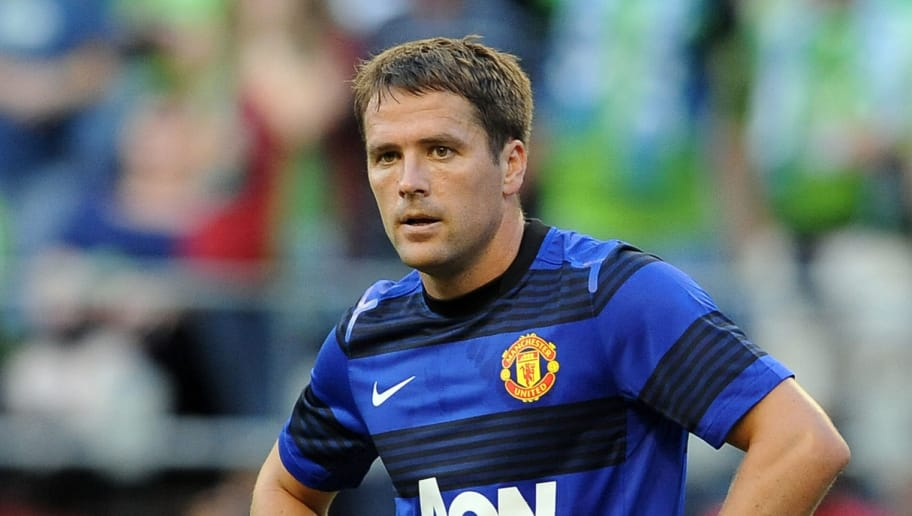 SEATTLE, WA - JULY 20: Michael Owen of Manchester United waits for a corner kick during the first half of the game against the Seattle Sounders FC at CenturyLink Field on July 20, 2011 in Seattle, Washington. (Photo by Steve Dykes/Getty Images)