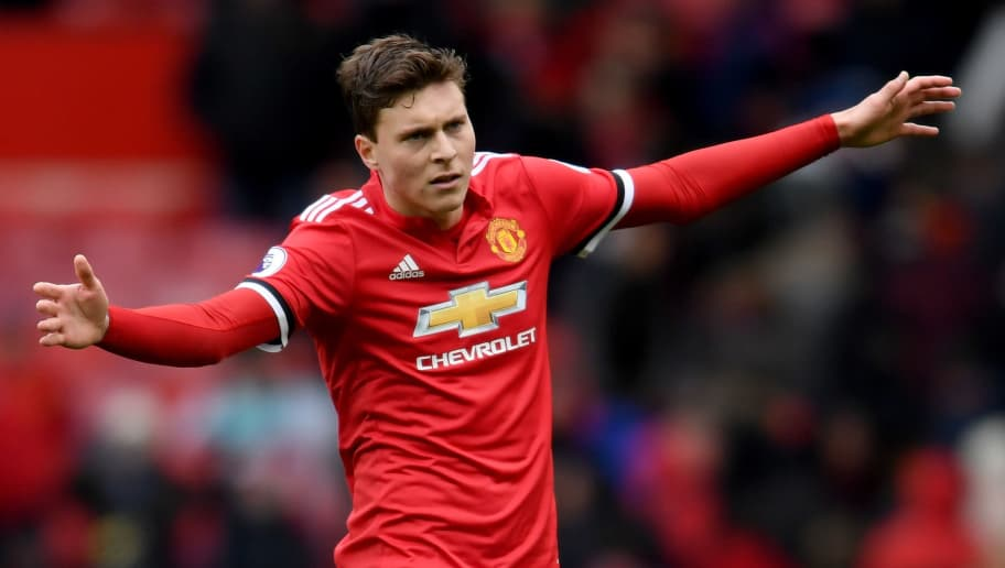 MANCHESTER, ENGLAND - MARCH 31:  Victor Lindelof of Manchester United in action uring the Premier League match between Manchester United and Swansea City at Old Trafford on March 31, 2018 in Manchester, England.  (Photo by Ross Kinnaird/Getty Images)