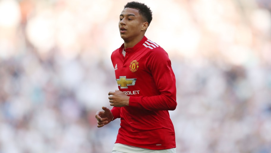 LONDON, ENGLAND - APRIL 21: Jesse Lingard of Manchester United during The Emirates FA Cup Semi Final between Manchester United and Tottenham Hotspur at Wembley Stadium on April 21, 2018 in London, England. (Photo by Catherine Ivill/Getty Images)