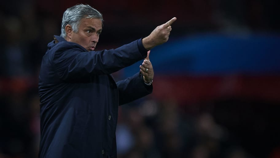MANCHESTER, ENGLAND - OCTOBER 02:  Jose Mourinho, Manager of Manchester United reacts during the Group H match of the UEFA Champions League between Manchester United and Valencia at Old Trafford on October 2, 2018 in Manchester, United Kingdom.  (Photo by Quality Sport Images/Getty Images)