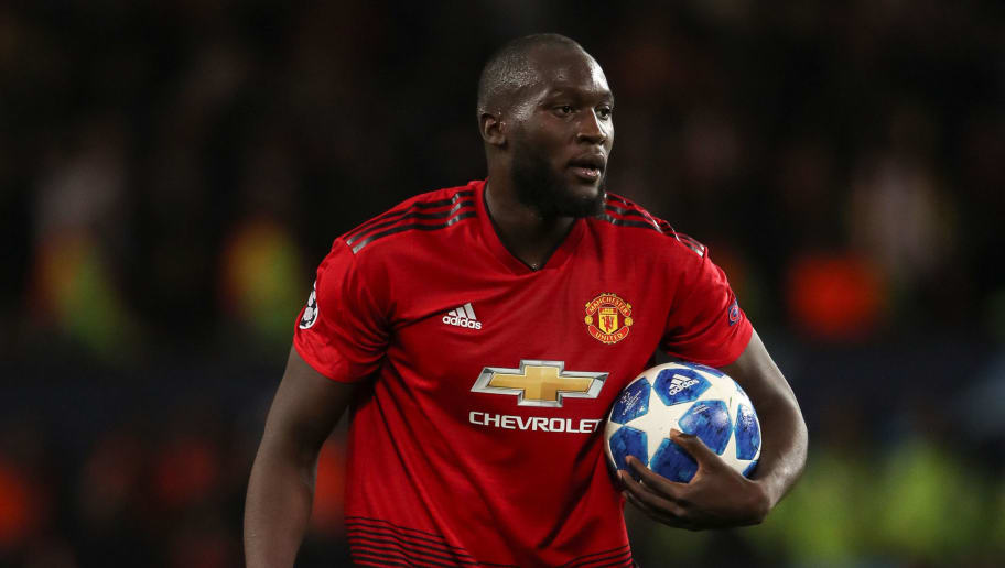 MANCHESTER, ENGLAND - OCTOBER 02: Romelu Lukaku of Manchester United during the Group H match of the UEFA Champions League between Manchester United and Valencia at Old Trafford on October 2, 2018 in Manchester, United Kingdom. (Photo by Matthew Ashton - AMA/Getty Images)