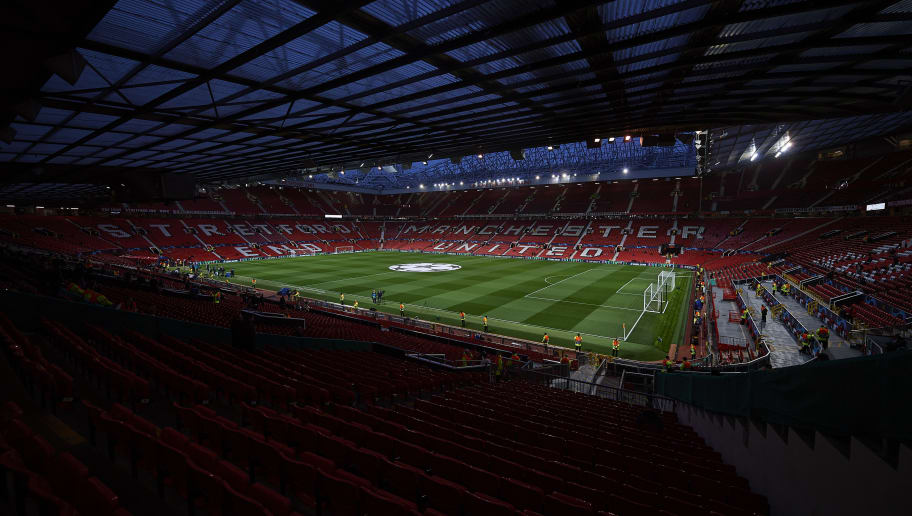 MANCHESTER, ENGLAND - OCTOBER 02:  General view of the Old Trafford Stadium prior the Group H match of the UEFA Champions League between Manchester United and Valencia at Old Trafford on October 2, 2018 in Manchester, United Kingdom.  (Photo by Quality Sport Images/Getty Images)
